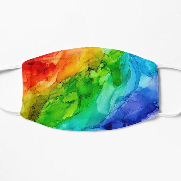 Tyler Rainbow Abstract  Flat Mask