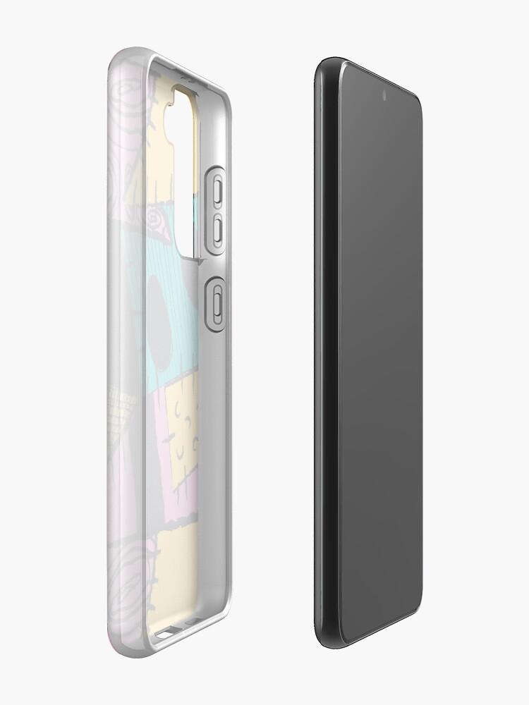 Alternate view of Nightmare Sewn Pattern Samsung Galaxy Phone Case