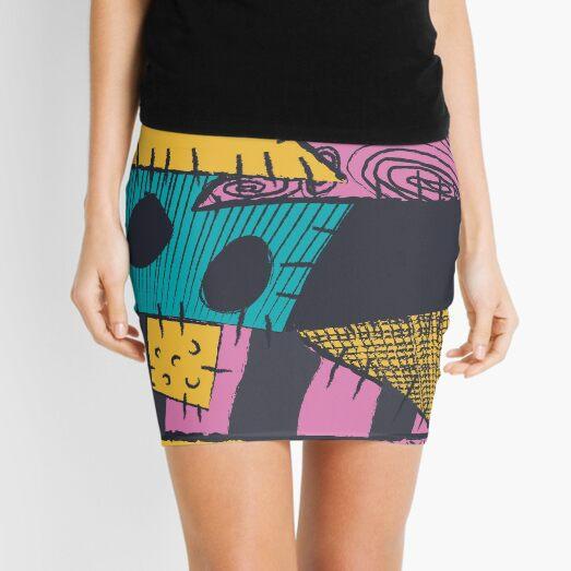 Patrón cosido de pesadilla Minifalda