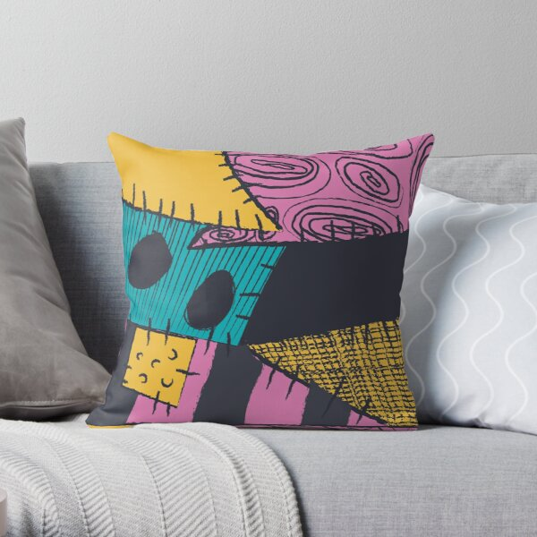 Nightmare Sewn Pattern Throw Pillow
