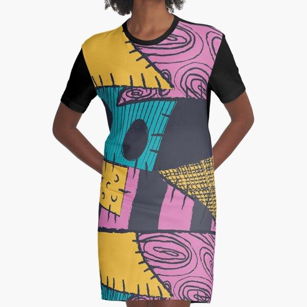 Nightmare Sewn Pattern Graphic T-Shirt Dress