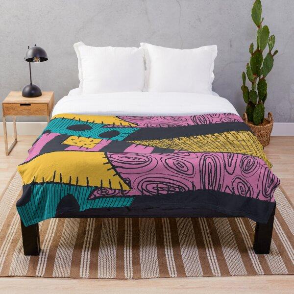 Nightmare Sewn Pattern Throw Blanket