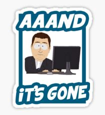 And it's gone - South Park Sticker