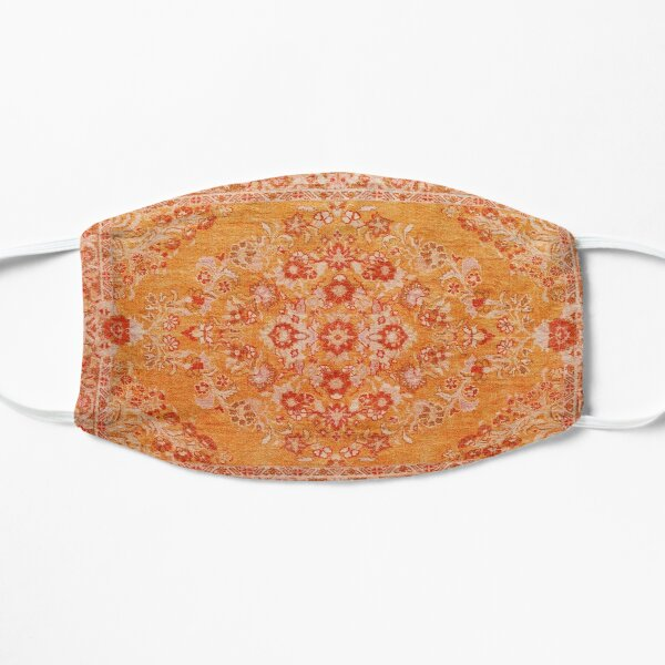 Orange Bohemian Berber Traditional Moroccan Style Design Flat Mask