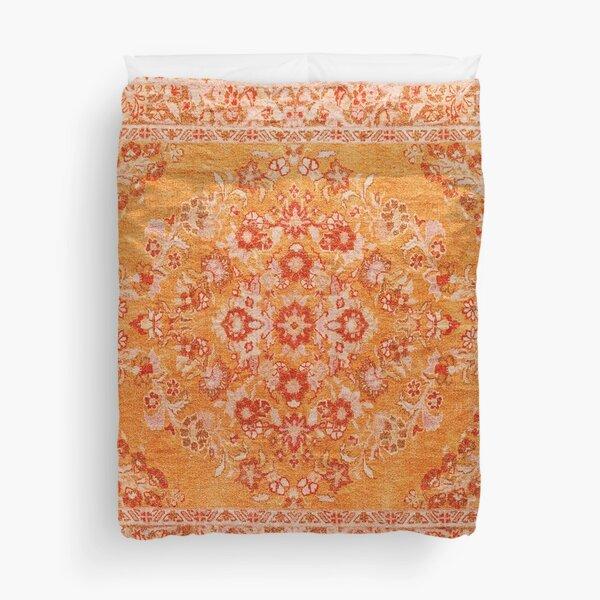 Orange Bohemian Berber Traditional Moroccan Style Design Duvet Cover