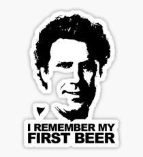 I Remember My First Beer - Brennan Sticker