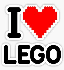 I Love LEGO Sticker