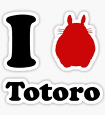 I Love Totoro Sticker
