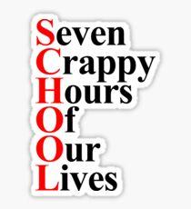 School acrostic Sticker