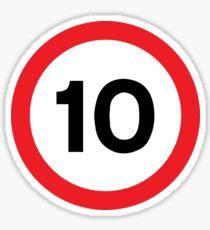 Speed Limit 10 Road Sign Sticker