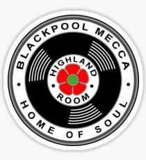 Blackpool Mecca Home of Northern Soul Die Cut Sticker Sticker