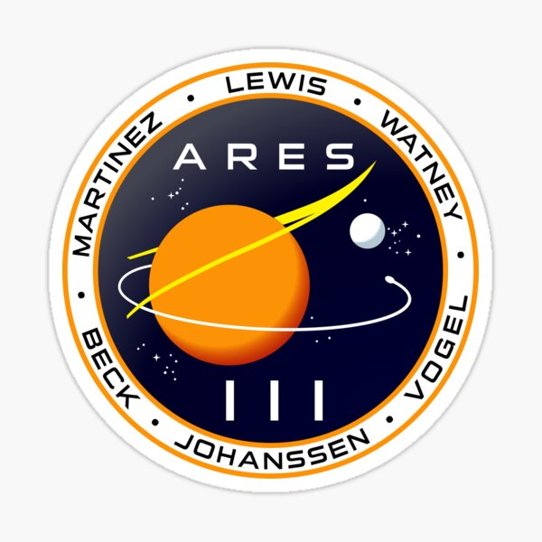 Ares 3 mission to Mars - The Martian Sticker