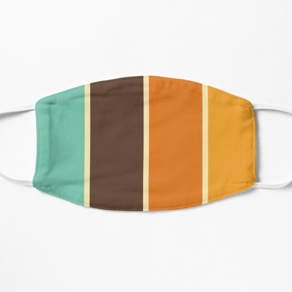 1970's Color Palette Retro Stripe Pattern Mask