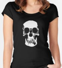 221b Baker Street Skull Women's Fitted Scoop T-Shirt