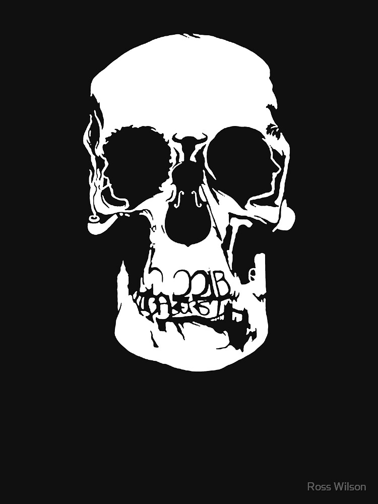 221b Baker Street Skull by RosscoWilson