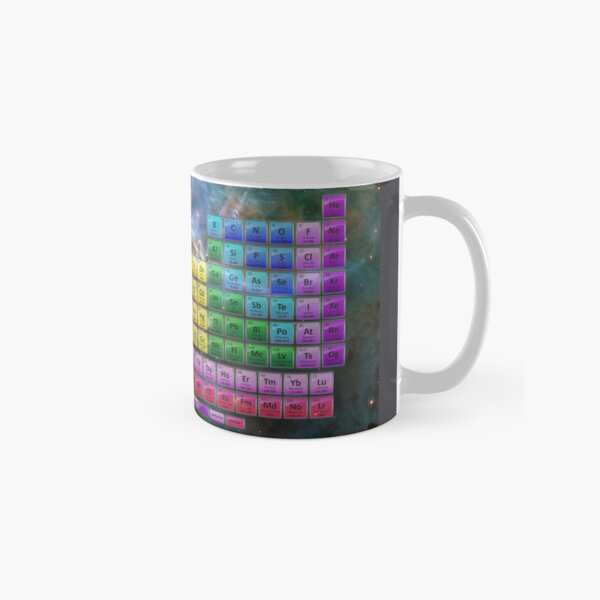 118 Element Color Periodic Table - Stars and Nebula Classic Mug