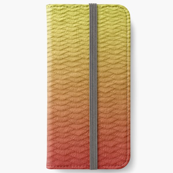 Red scaled Gradient iPhone Wallet