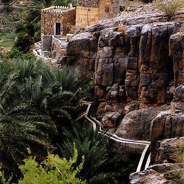 Falaj near Misfa by Cedarseed