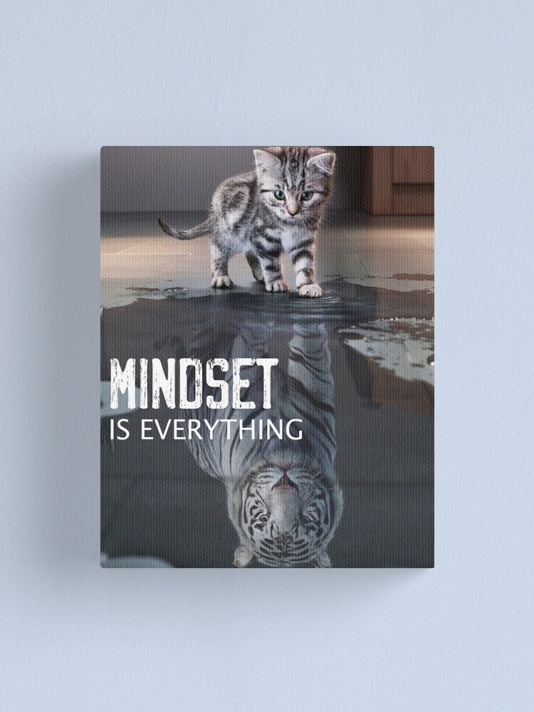 Alternate view of Mindset Is Everything Motivational Quote Canvas Print