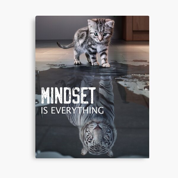 Mindset Is Everything Motivational Quote Canvas Print