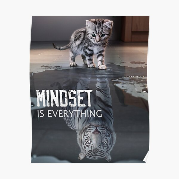 Mindset Is Everything Motivational Quote Poster