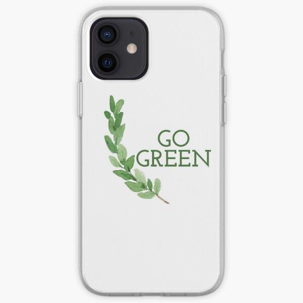 Go Green eco-friendly design Funda blanda para iPhone