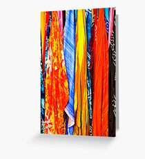 colourful scarves for sale Greeting Card