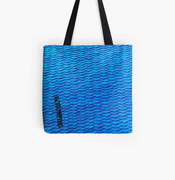 Blue Scales All Over Print Tote Bag