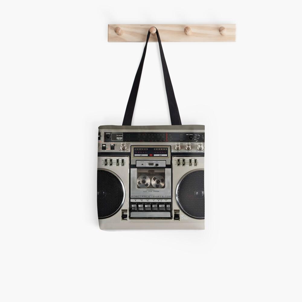 Vintage 80s Boombox Ghettoblaster Tote Bag
