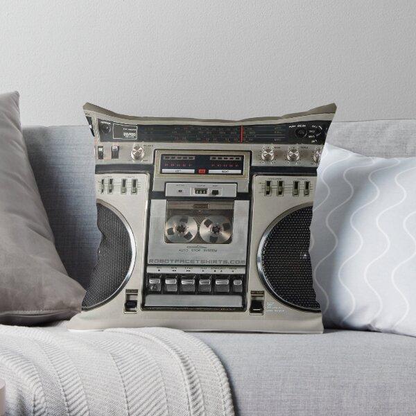 Vintage 80s Boombox Ghettoblaster Throw Pillow