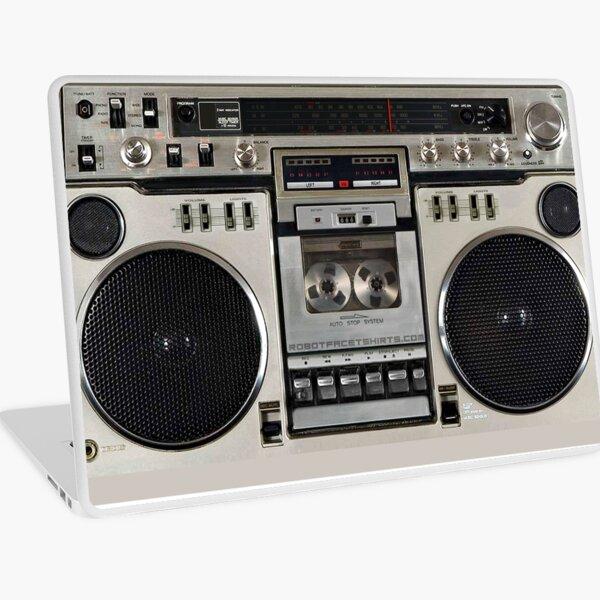 Vintage 80er Boombox Ghettoblaster Laptop Folie