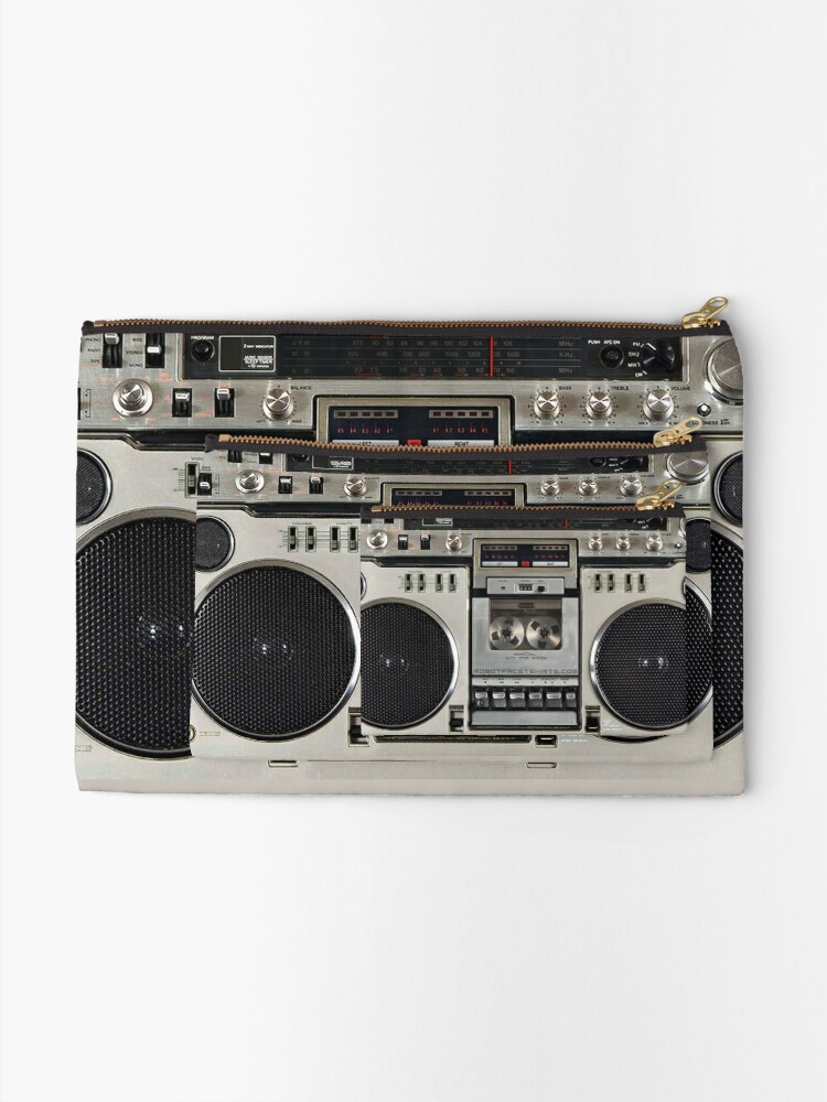Alternate view of Vintage 80s Boombox Ghettoblaster Zipper Pouch
