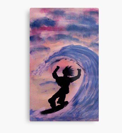 Surfer #2, watercolor Metal Print