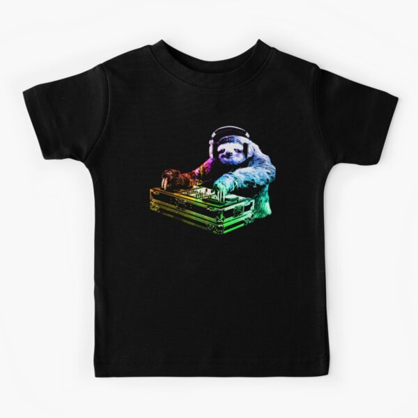 DJ Sloth Kids T-Shirt