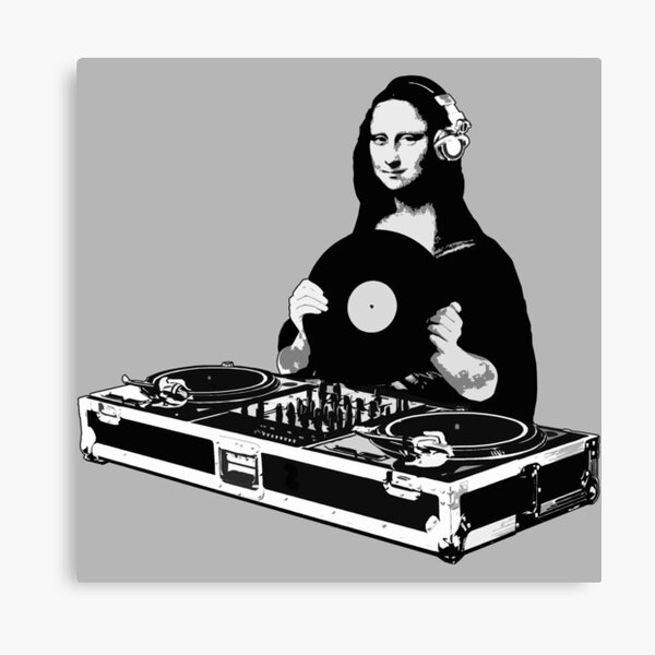 DJ Mona Lisa Canvas Print