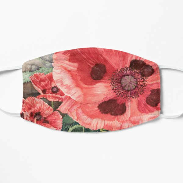 Red Poppies Watercolor Mask