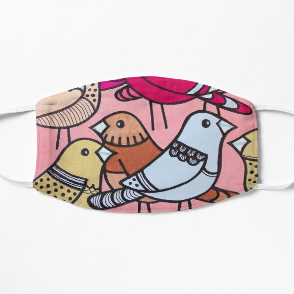 Colourful Pink Birds Mask