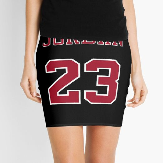 Michael Jordan 23 Name and Number Chicago Bulls Black and Red Mini Skirt