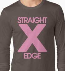 Straightedge (light pink) Long Sleeve T-Shirt