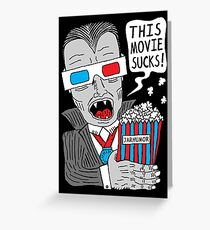 This Movie Sucks Greeting Card
