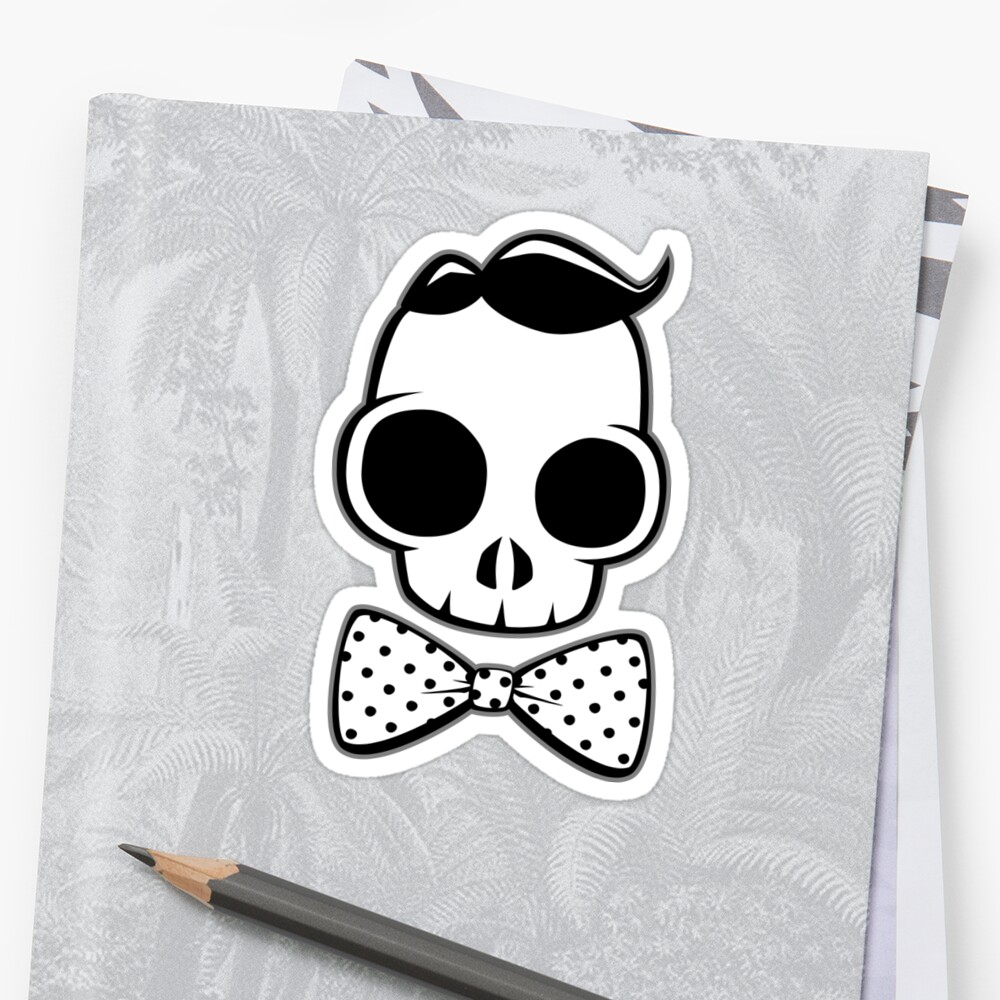 Skull Classy Polka Dot Bow Tie by LudlumDesign