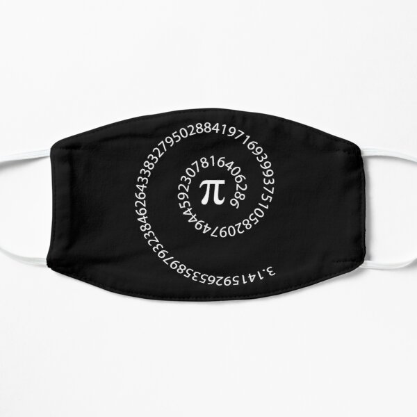 Pi Number - Pi Day π spiral Flat Mask