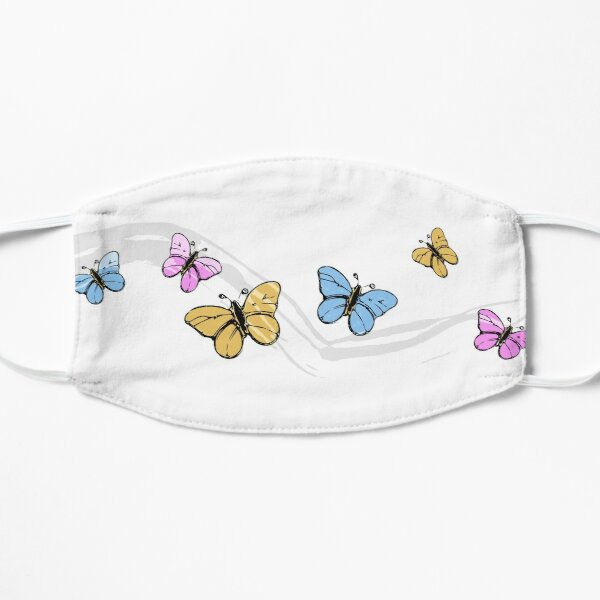 Colorful Butterflies Design Mask
