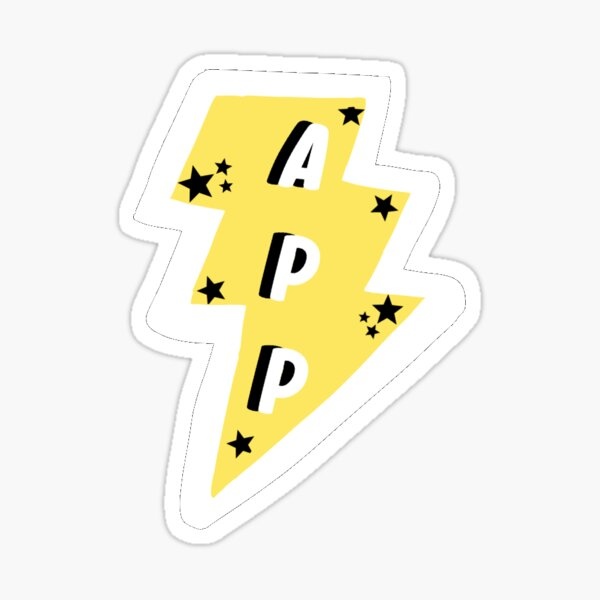 App State Lightning Bolt Sticker
