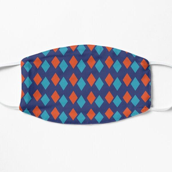 Orange and Blue Geometric Diamond Pattern Mask
