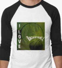 I Love Basketball Men's Baseball ¾ T-Shirt