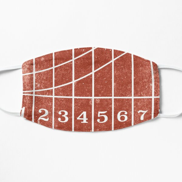 Red Running Track Distressed Style Mask
