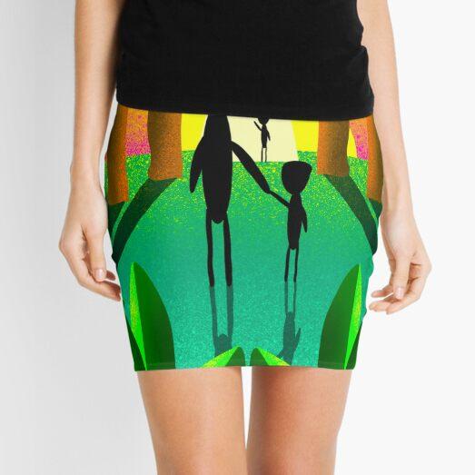 Aliens Go Home Mini Skirt