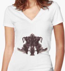 Inkblot Women's Fitted V-Neck T-Shirt
