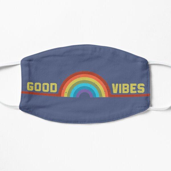 Good Vibes Distressed Rainbow Mask
